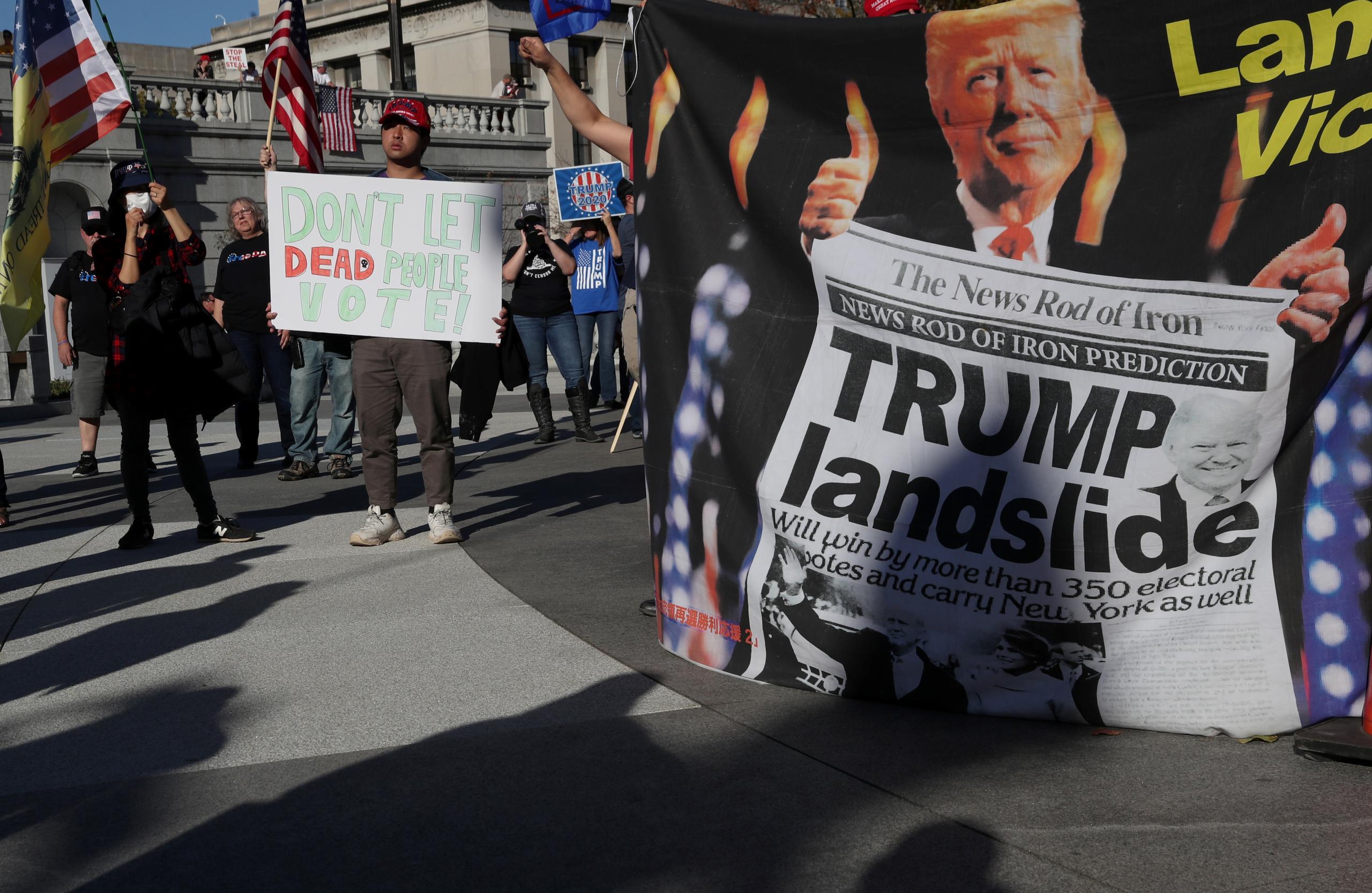 مظاهرة مؤيدة للرئيس الأميركي دونالد ترامب