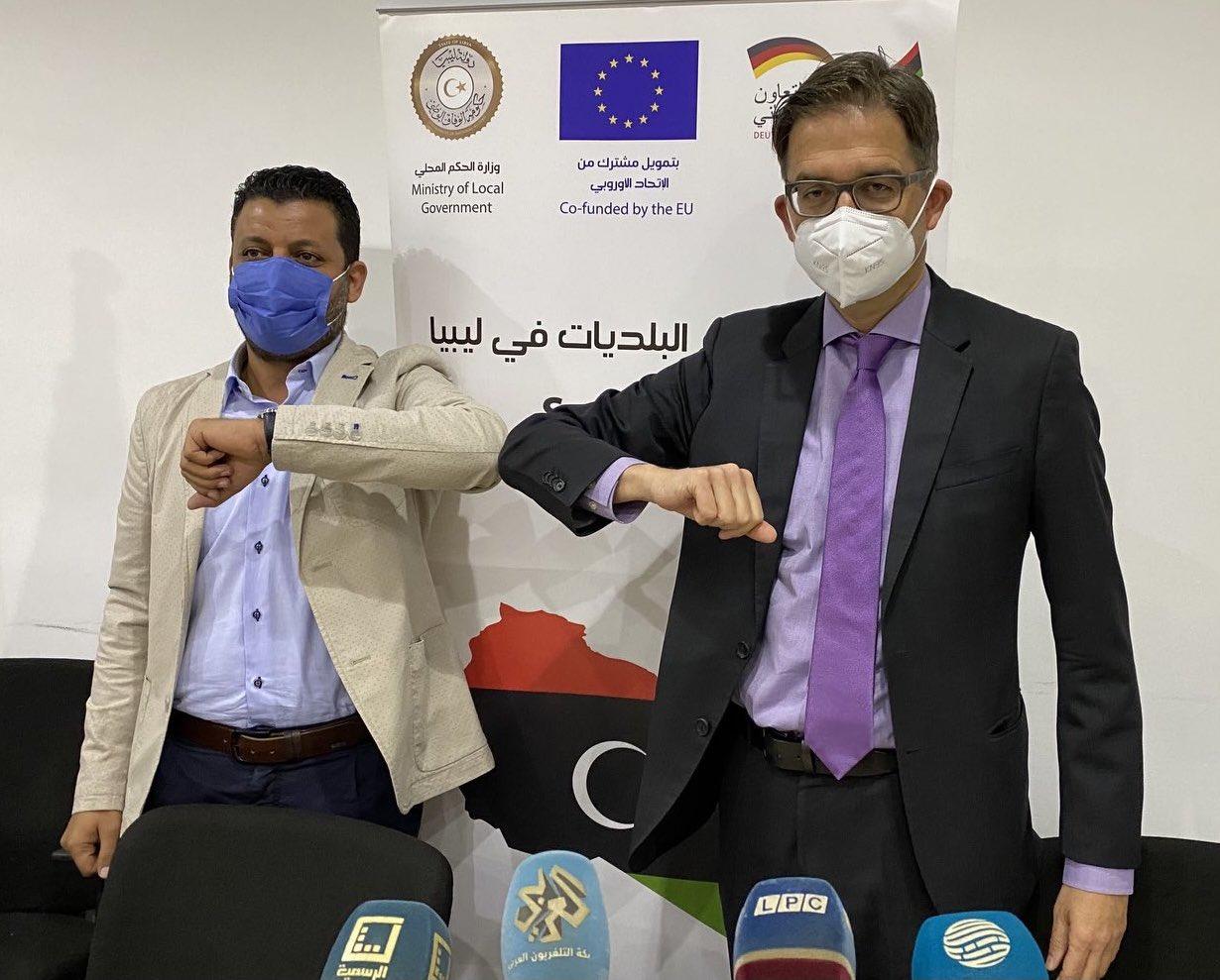 السفير الألماني لدى ليبيا يلتقى عميد بلدية أبوسليم