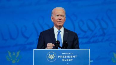 الديمقراطي جو بايدن بعد تأكيد ترشيحه رئيساً لأميركا