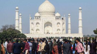 ضريح تاج محل التاريخي في الهند - ديسمبر 2020