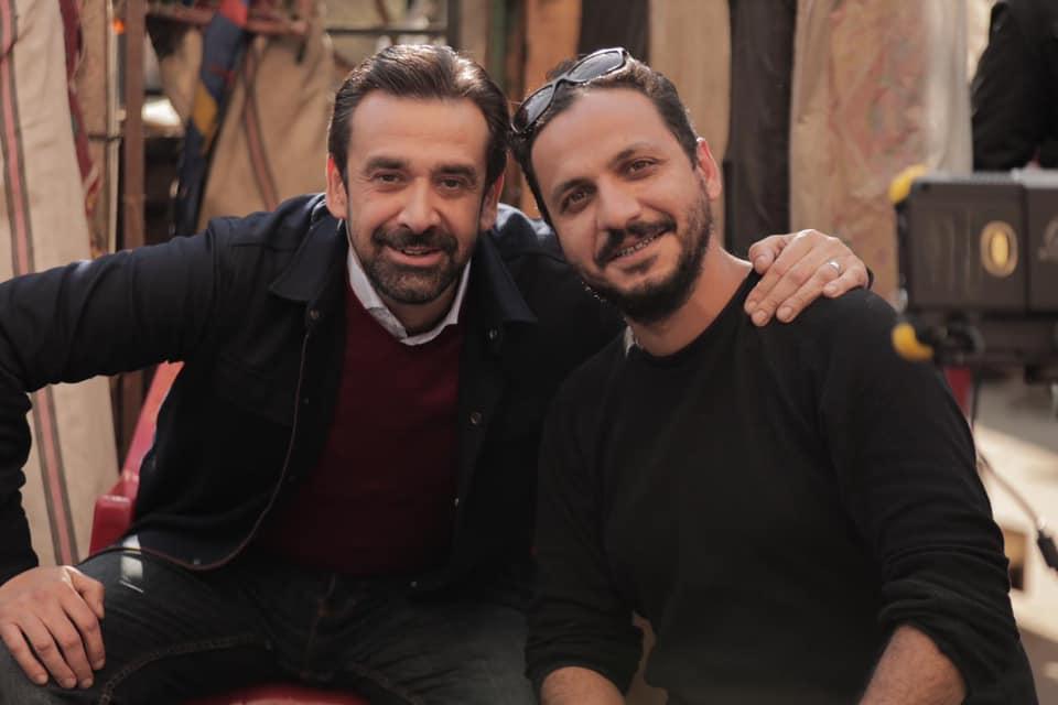 المخرج بيتر ميمي مع الفنان كريم عبدالعزيز