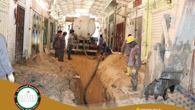 أعمال تطوير البنية التحتية لشارع العمال في مصراتة
