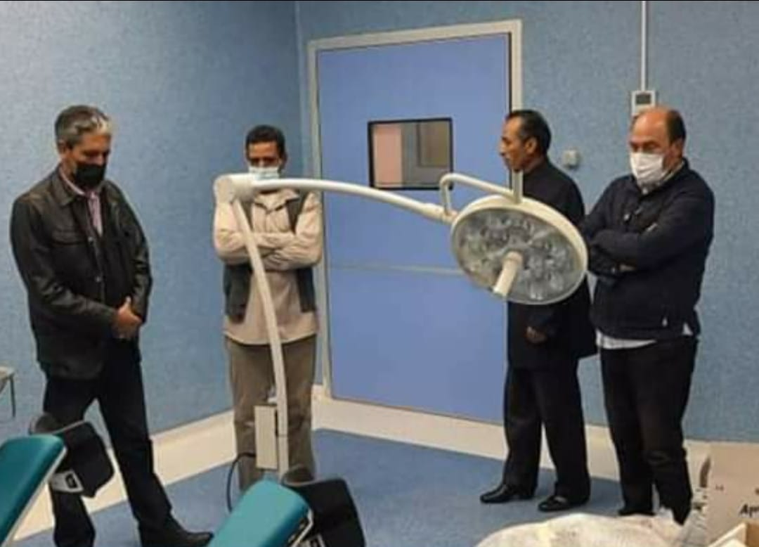 عميد بلدية بني وليد يتابع التجهيزات لافتتاح مستشفى الشمالية القروي