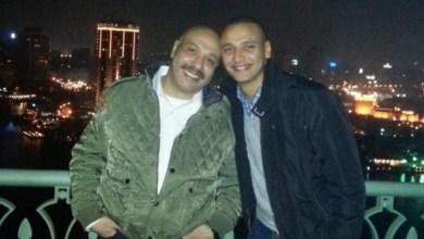 أحمد خالد صالح مع والده