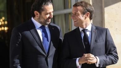 """الرئيس الفرنسي إيمانويل ماكرون ورئيس الحكومة اللبنانية المكلف سعد رفيق الحريري-""""أرشيفية"""""""