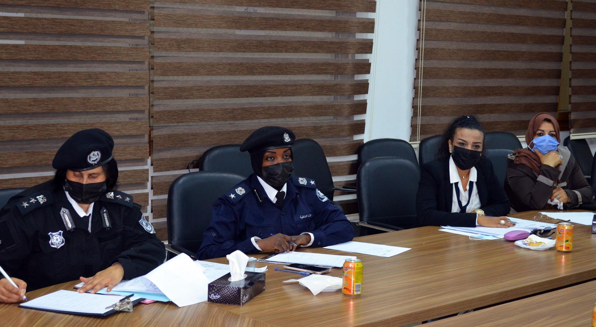 ضابطات شرطة في أول اجتماع لدعم المرأة العاملة بوزارة الداخلية بحكومة الوفاق