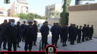 """الجمع الصباحي لمنتسبي مركز شرطة """"البِركة"""" التابع لمديرية أمن بنغازي"""