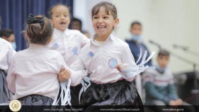 جانب من عروض الأطفال في احتفالية زليتن بمناسبة اليوم العالمي للأم والطفل