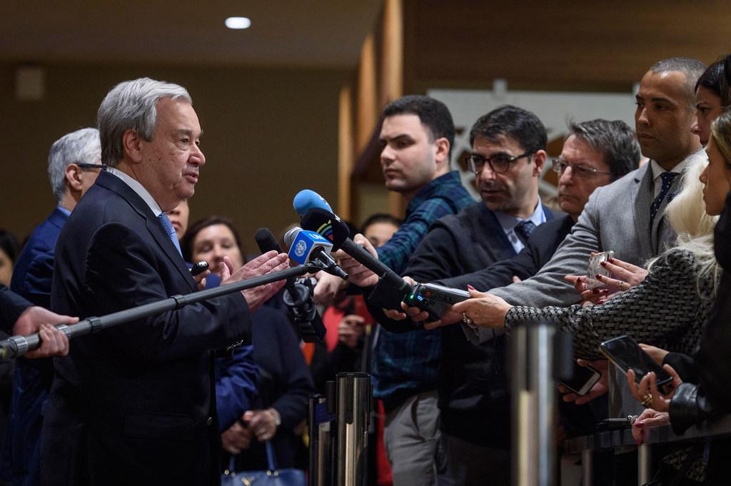 """الأمين العام للأمم المتحدة أنطونيو غوتيرش -""""أرشيفية"""""""