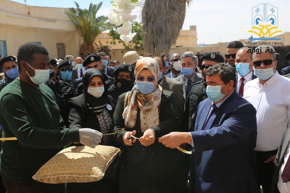 """وزيرة العدل """"حليمة البوسيفي"""" تفتتح مقرين للمحكمة والنيابة في """"أبوكماش"""""""