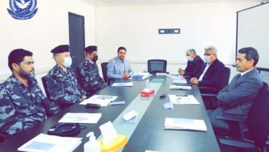 """لقاء عماد السائح رئيس مفوضية الانتخابات مع رجالات """"الداخلي"""" للتنسيق بشأن تأمين الانتخابات"""
