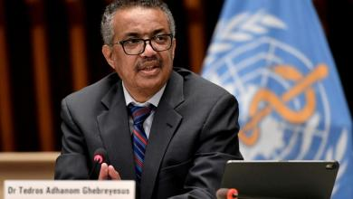 """مدير عام منظمة الصحة العالمية """"تيدروس أدهانوم غيبريسوس"""""""