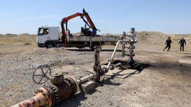 """بئر النفط المدمر شمال غرب كركوك ، العراق – """"رويترز"""""""
