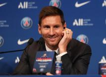 Lionel Messi Press Conference after signing for Paris St Germain