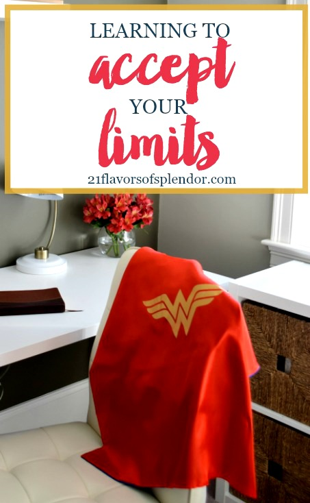 We all have our Superwoman cape wearing moments. Those times when we believe there is nothing we cannot do or overcome. Yet there are times when we need to take a step back, adjust our perspective, and learn to accept our limits. Click…