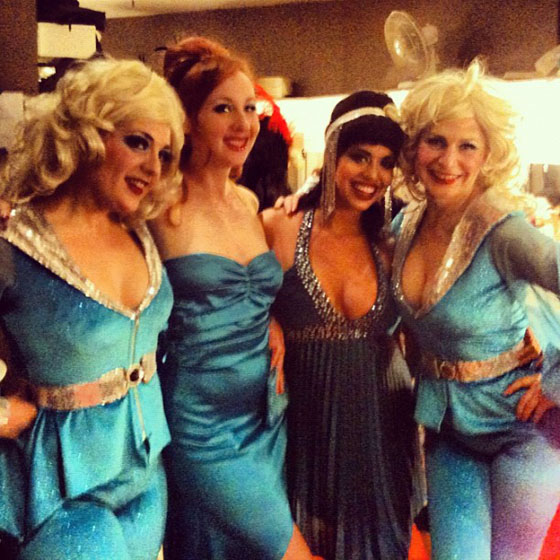 Tease-O-Rama: The Schlep Sisters (Minnie and Darlinda) with Coco Lectric and Ruby Joule from The Jigglewatts backstage!