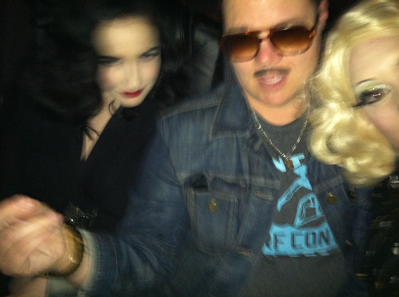 Limo Shenanigans with Dita and Murray...  ©Dirty Martini