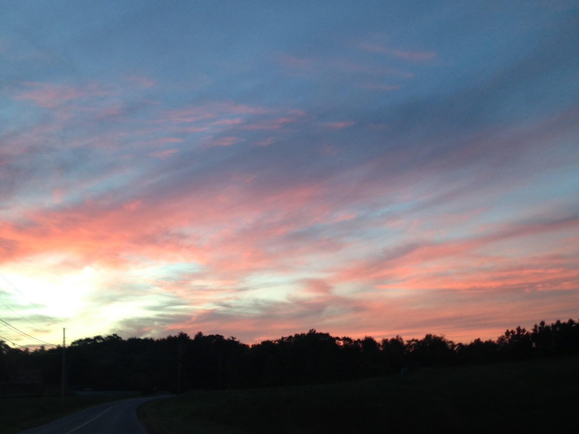 Sunset in Maine