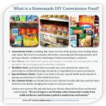 What is a Homemade DIY Convenience Food