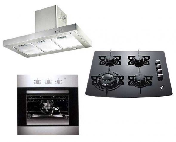 ef elba professional gas cooktop built in oven range hood combo package for 220 volts