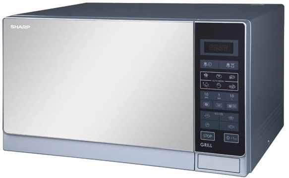 sharp r 75mt 25 liter microwave oven with grill for 220 volts 50hz