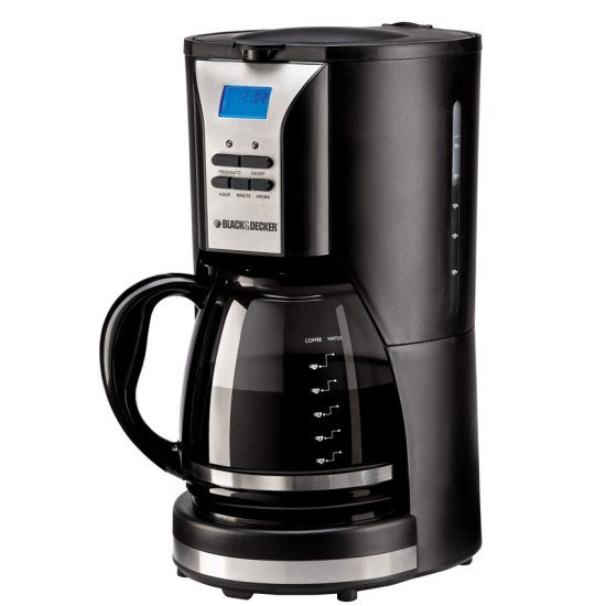 Black And Decker DCM90 12 Cup 220 Volt Coffee Maker With Timer Amp Display