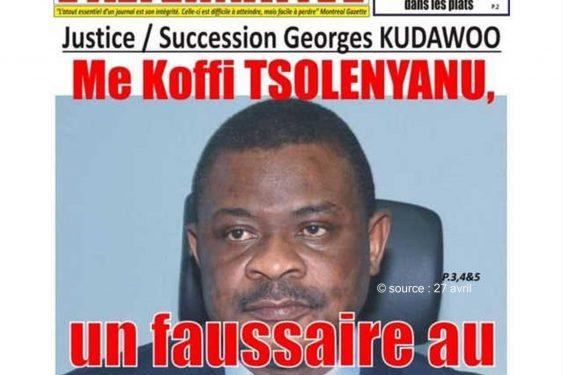 *27 avril* : Togo / Suspension de « L'Alternative »  par la HAAC : Ce que dit le DP du bi-hebdomadaire Ferdinand Ayité