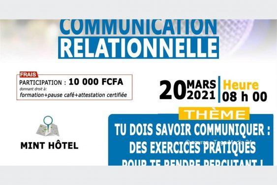 *Togo Media 24* : TUDOSACOM projette pour vous une formation pratique en «Communication Relationnelle», le 20 mars prochain