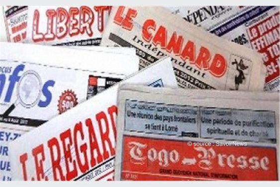*Savoir News* : Voici les grands titres des journaux privés en kiosques ce mercredi 16 Juin 2021 au Togo