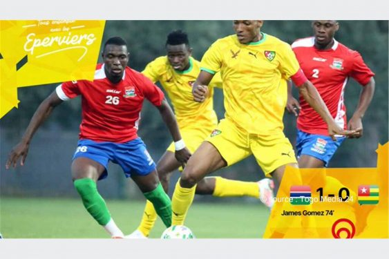 *Togo Media 24* : Journée FIFA : les Éperviers piqués par les scorpions de la Gambie.