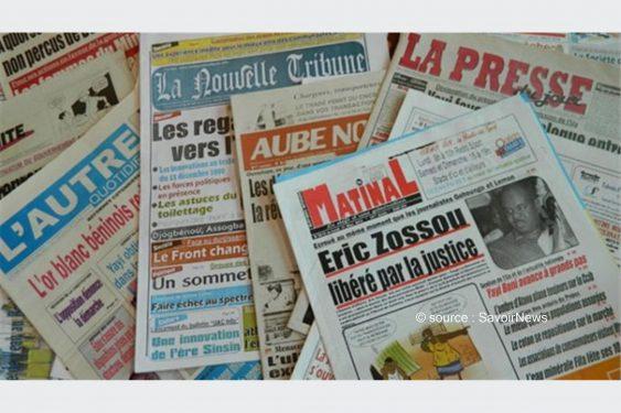 *Savoir News* : Voici les grands titres des journaux privés en kiosques ce jeudi 14 Oct 2021 au Bénin