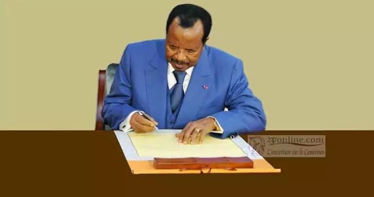 Paul Biya signe decret