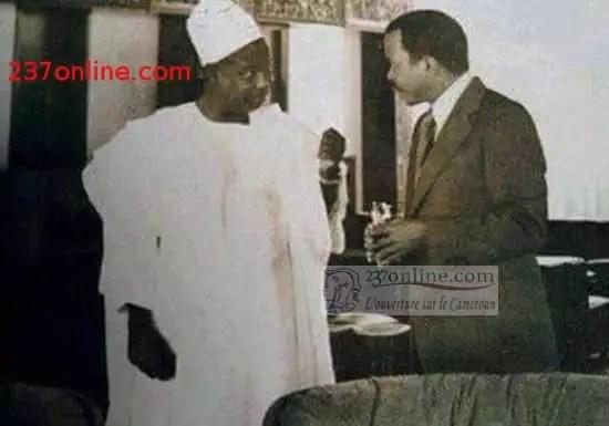 Le president Paul BIYA et Ahidjo