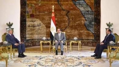 Photo de Le président égyptien Abdel Fattah al-Sissi reçoit le maréchal Haftar
