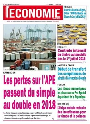 Le Quotidien de l'Économie du 27 juin 2019