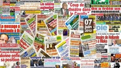 Photo of Macky Sall et CAN 2019 à la Une des journaux ivoiriens