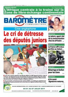 Baromètre Communautaire du 01 juillet 2019