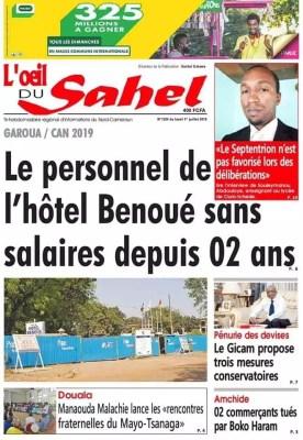 Oeil du Sahel du 01 juillet 2019