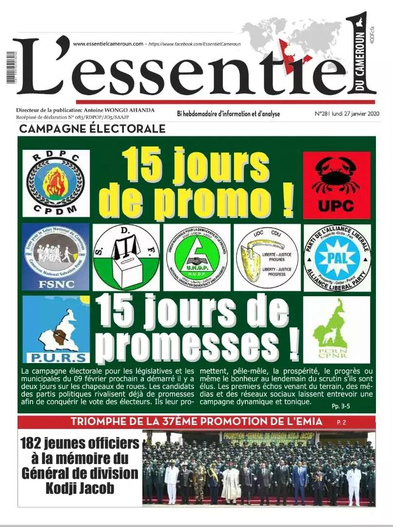 essentiel du cameroun du 27 janvier