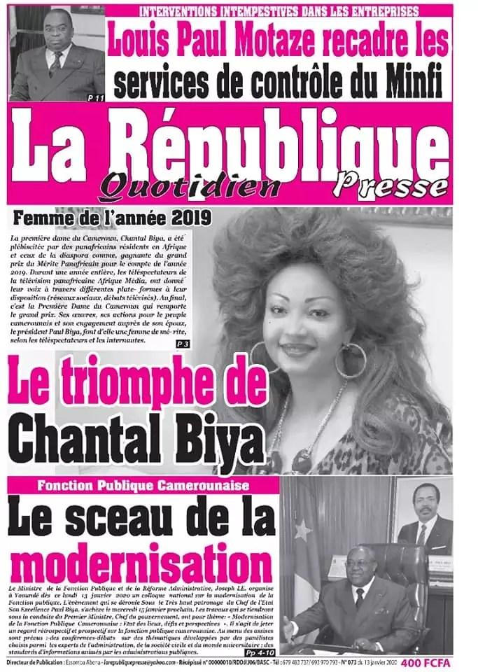la republique presse du 13 janvier 2020
