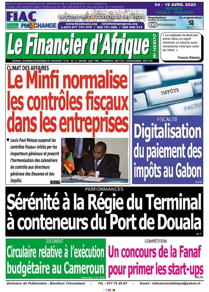 le financier dafrique du 13 janvier 2020