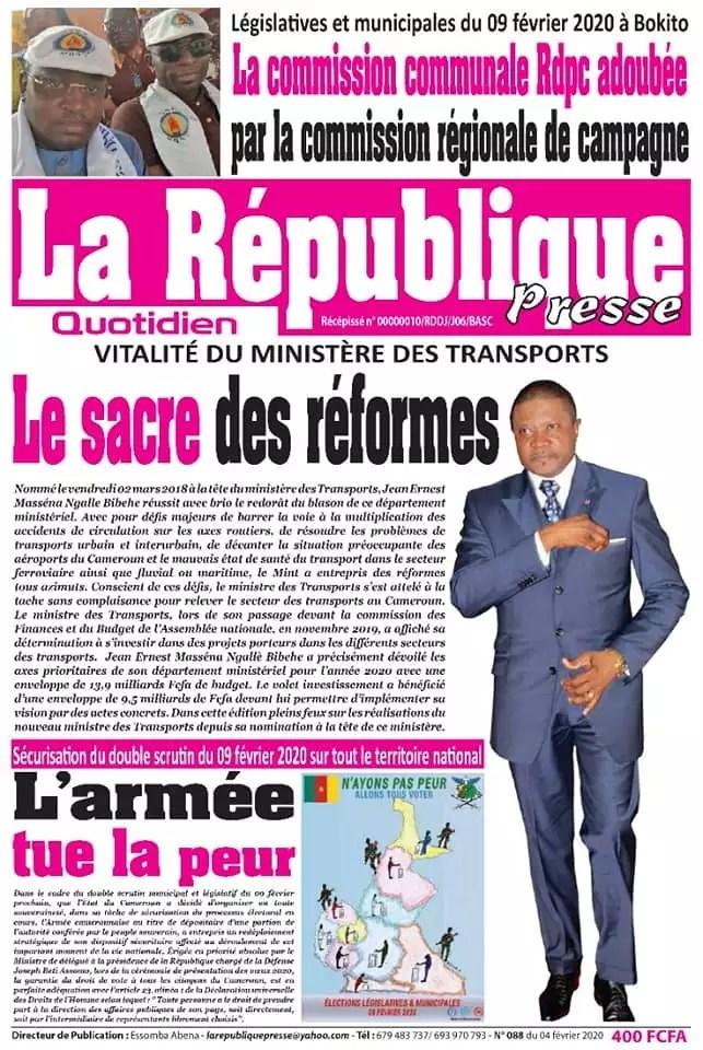 la republique presse du 04 fevrier 2020