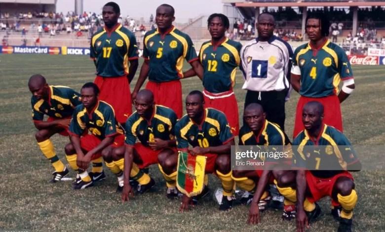 Lions indomptables en 2000 au Nigeria