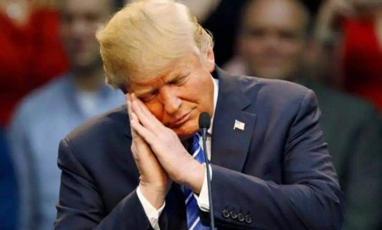 Donald Trump anxieu