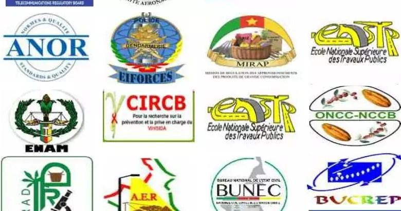 Les logos des sociétés d'etats