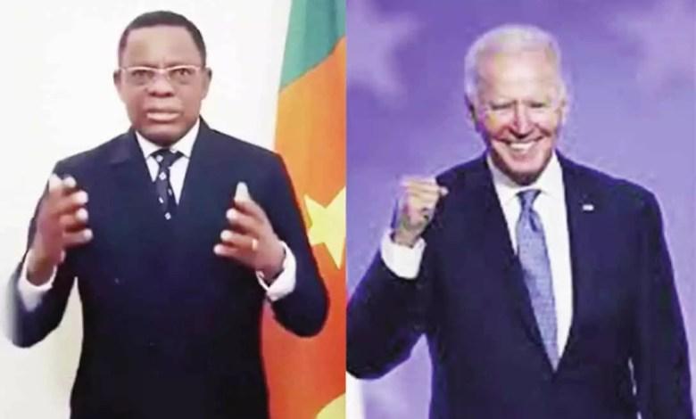 Pr Maurice Kamto et Joe Biden
