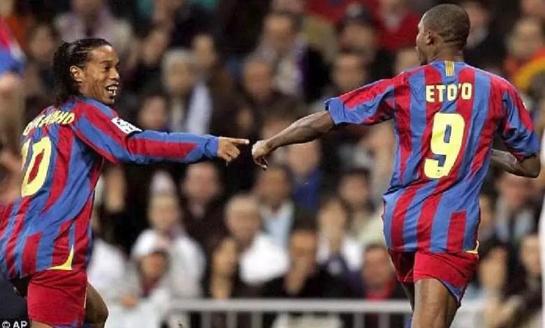 Ronaldinho et Samuel Eto'o