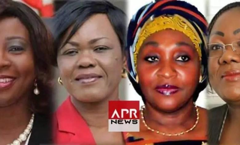 Raymonde Goudou Coffie, Kandia Camara, Anne-Désirée Ouloto et Kaba Nialé