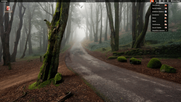 Screenshot do meu desktop com Gnome Shell 3.4