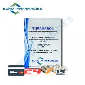 Turanabol Euro-Pharmacies 50 tabs [10mg/tab]